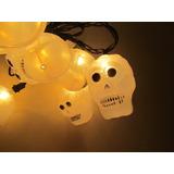 Halloween Decoración Serie Calaveras Craneo Luces