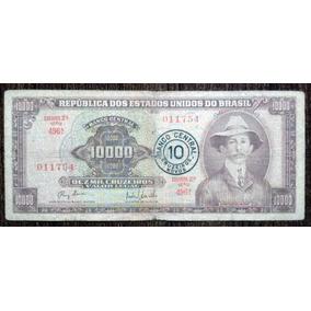Billete 10 Cruzeiros Novos S/10.000 Cruzeiros Brasil 1967 G
