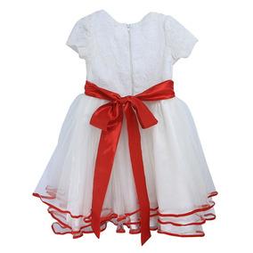 Vestido Festa Infantil Renda Babado Casamento Daminha