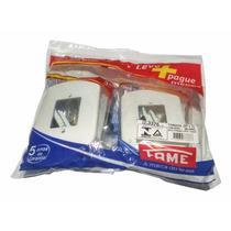 Kit Com 3 Tomadas Completa 10a 250v 2p+t Linha Blanc Fame Nf