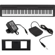 Piano Digital Yamaha P45 88 Teclas Com Fonte E Pedal P-45 B