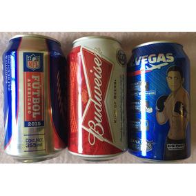 Set 3 Latas Cerveza Budweiser Ltd Ed Ufc Nfl