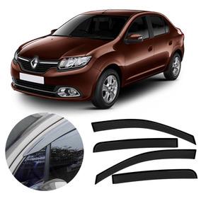 Calha De Chuva Automotiva Novo Renault Logan 2014 / 2017