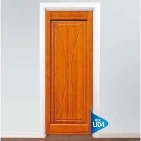 Adesivo Para Porta Parede Porta Madeira Fosco U04