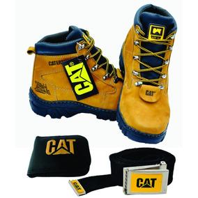 Kit Boot Bota Catepillar Original Cinto Carteira Promoção .