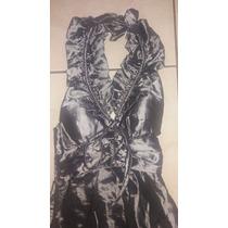 Vestido De Festa Longo - Cor:chumbo - Tamanho(p)