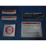 Calcomanias Logos Y Advertencia Moto Suzuki