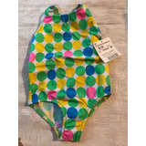 Zara Baby Traje De Baño Completo Verde Con Círculos Colores