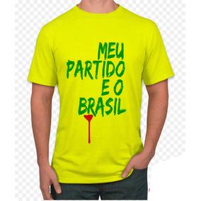 Camisa Personalizada Bolsonaro, Meu Partido É O Brasil