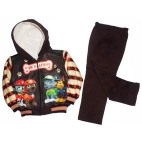 Pants Conjunto Con Borrega Niño 1,2,3,4,6 Años Paw Patrol