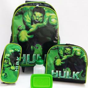 Kit Mochila Hulk Vingadores Pronta Entrega
