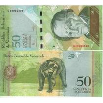 Venezuela Billete De 50 Bolívares Fuertes 2011 Sin Circular