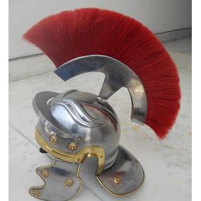 Casco Romano Centurion Metal Tamañ Real Con Penacho