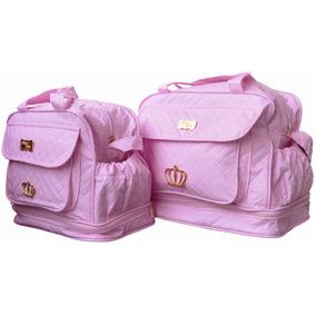 Bolsas Para Bebê Kit Maternidade Menina Rosa Enxoval 109