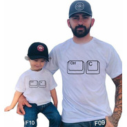 Kit 2 Camisetas Pai E Filho Ctrl C Ctrl V F10