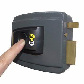 Fechadura Com Botão Trava Elétrica 12v Eletrônica P/ Portões