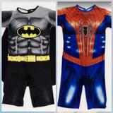 Roupa Batman E Homem Aranha Infantil