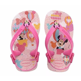 Ojotas Disney Baby Minnie Havaianas Originales Pie Luminoso