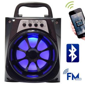 Caixa Caixinha Som Amplificada Via Bluetooth Pendrive A-22