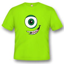 Camiseta Infantil Personalizado Mike Wazowski Monstros Sa