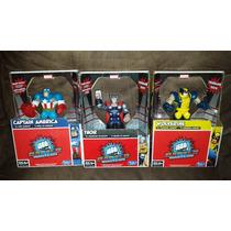 Paquete De 3 Muñecos: Capitan America, Thor, Wolverine