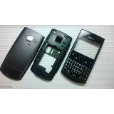 Carcaça Nokia Asha 205 Preto Chassi Telcado Completa