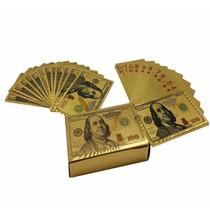 Baraja Poker Chapa 24k Oro Calidad Antrax Naipes