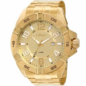 Relógio Dourado Grande Condor Co2315aa/4x By: Technos