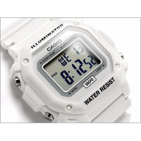 Reloj Casio Unisex F108whc-7b Digital Blanco White Watch Dis