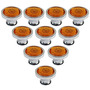 Abcgoodefg® 10 Pc, 30mm Diy Antigua Orange Crystal Perillas