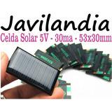 Celda Solar 5v - 30ma - 53 X 30 Mm Resina Epoxi Javilandia