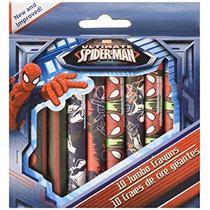 Marvel Ultimate Spiderman Juego De 10 Creyones Enormes ~ Sp