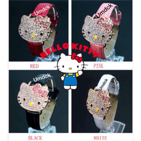Hello Kitty Reloj Dama Carita Cristal