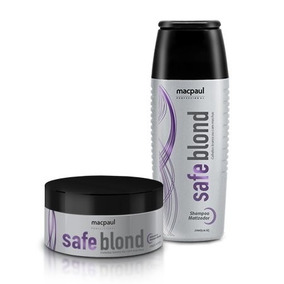 Safe Blond Kit Matizador Shampoo E Máscara