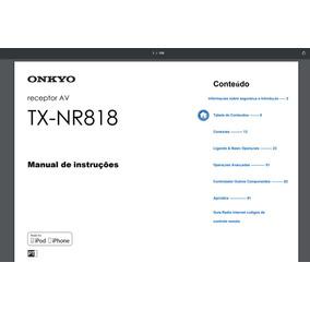 Manual Em Português Do Receiver Onkyo Tx-nr 818