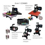 Prensa Termica 8 Em 1 38x38cm Caneta 220v + Impressora L3110