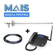 Kit Telefone Rural Celular Desbloqueado Com Gprs - Completo!