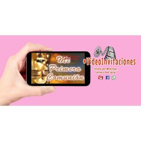 Invitacion Digital En Video Para Primera Comunion