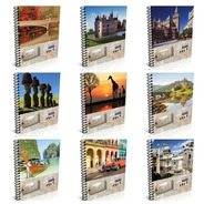 Cuaderno Universitario Rayado Pack X10 Travel