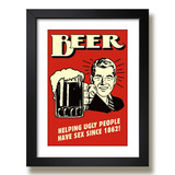Quadro Bebidas Cerveja Bar Beer Retro Q1e Geek Poster Decora