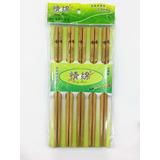 10 Pares Palitos Chinos Bamboo Para Sushi Ramen
