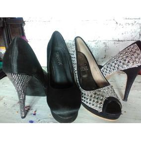 c8adedaf Zapatilla Negra Con Plata Forma Usado en Mercado Libre México