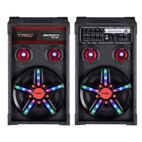 Caixa Som Amplificada Trc Trc362 Bluetooth Rádio Fm 300w