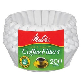 Filtro Papel Cestinha P/ Cafeteira 4 Cups C/ 200 Melitta