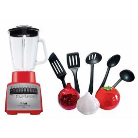 Licuadora Roja 14 Velocidades T-fal + Utensilios De Cocina