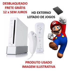 Nintendo Wii Completo + Hd Com 100 Jogos