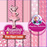 Kit Imprimible Angelina Ballerina Pack Fondos Clipart Ballet