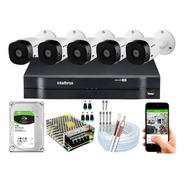 Kit Cftv Intelbras 5 Cameras Segurança Full Hd 1220 2mp 1108