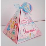 Invitaciones Cajitas Piramide Baby Shower Bautizo Cumpleaños