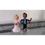 Noivos Em Biscuit - Topo De Bolo - Casamento